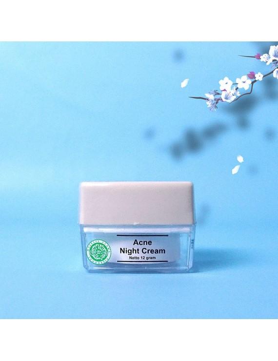 MS GLOW Acne Night Cream / krim Wajah Berjerawat