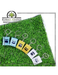 Gantungan Kunci Ka'bah kristal 1 lusin (isi 12pcs)